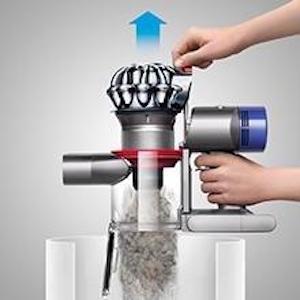 Sistema de vaciado higiénico de la suciedad
